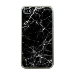 Black marble Stone pattern Apple iPhone 4 Case (Clear)