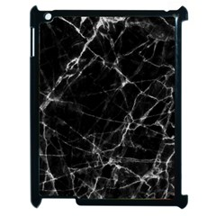 Black marble Stone pattern Apple iPad 2 Case (Black)