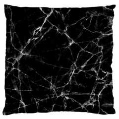 Black marble Stone pattern Large Cushion Cases (One Side)