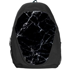 Black marble Stone pattern Backpack Bag