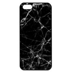 Black marble Stone pattern Apple iPhone 5 Seamless Case (Black)