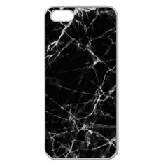 Black marble Stone pattern Apple Seamless iPhone 5 Case (Clear)