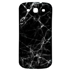 Black marble Stone pattern Samsung Galaxy S3 S III Classic Hardshell Back Case