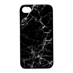 Black marble Stone pattern Apple iPhone 4/4S Hardshell Case with Stand