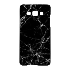 Black marble Stone pattern Samsung Galaxy A5 Hardshell Case