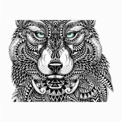 Intricate elegant wolf head illustration Collage 12  x 18