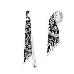 Intricate Elegant Wolf Head Illustration Neckties (one Side)