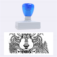 Intricate elegant wolf head illustration Rubber Stamps (Large)