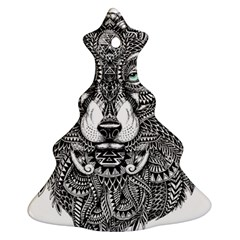 Intricate Elegant Wolf Head Illustration Ornament (christmas Tree)