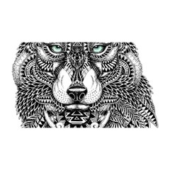 Intricate Elegant Wolf Head Illustration You Are Invited 3d Greeting Card (8x4)