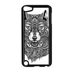 Intricate elegant wolf head illustration Apple iPod Touch 5 Case (Black)