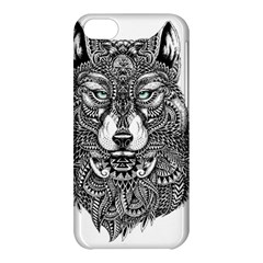Intricate elegant wolf head illustration Apple iPhone 5C Hardshell Case