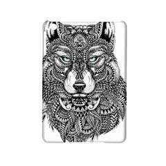 Intricate elegant wolf head illustration iPad Mini 2 Hardshell Cases