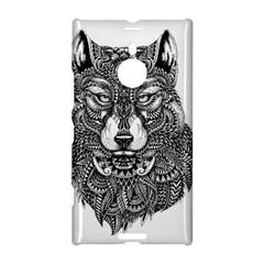 Intricate elegant wolf head illustration Nokia Lumia 1520