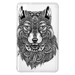 Intricate elegant wolf head illustration Samsung Galaxy Tab Pro 8.4 Hardshell Case