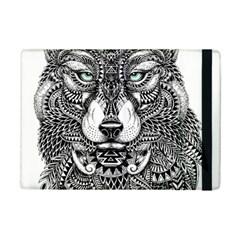 Intricate elegant wolf head illustration iPad Mini 2 Flip Cases