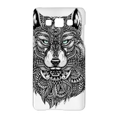 Intricate Elegant Wolf Head Illustration Samsung Galaxy A5 Hardshell Case
