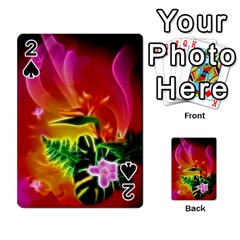 Awesome F?owers With Glowing Lines Playing Cards 54 Designs