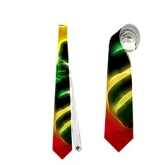 Awesome F?owers With Glowing Lines Neckties (Two Side)