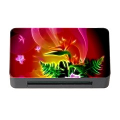 Awesome F?owers With Glowing Lines Memory Card Reader with CF