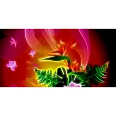 Awesome F?owers With Glowing Lines YOU ARE INVITED 3D Greeting Card (8x4)