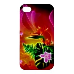 Awesome F?owers With Glowing Lines Apple iPhone 4/4S Hardshell Case