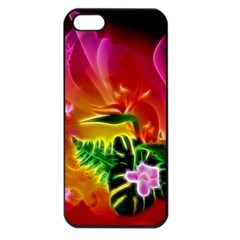 Awesome F?owers With Glowing Lines Apple iPhone 5 Seamless Case (Black)