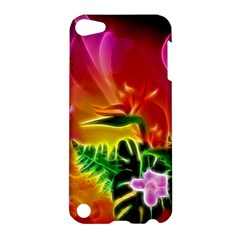 Awesome F?owers With Glowing Lines Apple iPod Touch 5 Hardshell Case