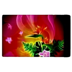 Awesome F?owers With Glowing Lines Apple iPad 3/4 Flip Case