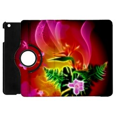 Awesome F?owers With Glowing Lines Apple iPad Mini Flip 360 Case