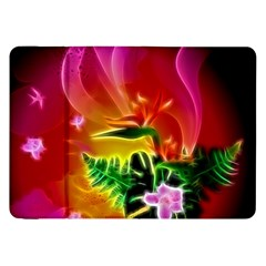 Awesome F?owers With Glowing Lines Samsung Galaxy Tab 8.9  P7300 Flip Case