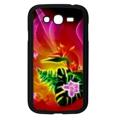 Awesome F?owers With Glowing Lines Samsung Galaxy Grand DUOS I9082 Case (Black)