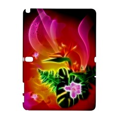 Awesome F?owers With Glowing Lines Samsung Galaxy Note 10.1 (P600) Hardshell Case