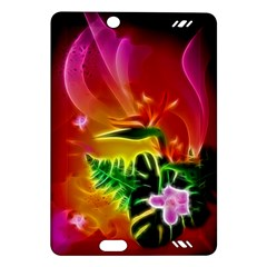 Awesome F?owers With Glowing Lines Kindle Fire HD (2013) Hardshell Case