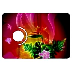 Awesome F?owers With Glowing Lines Kindle Fire HDX Flip 360 Case