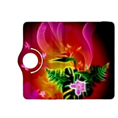 Awesome F?owers With Glowing Lines Kindle Fire HDX 8.9  Flip 360 Case