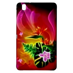 Awesome F?owers With Glowing Lines Samsung Galaxy Tab Pro 8 4 Hardshell Case