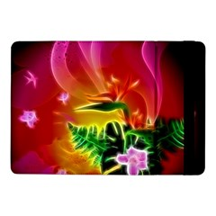 Awesome F?owers With Glowing Lines Samsung Galaxy Tab Pro 10.1  Flip Case