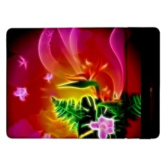 Awesome F?owers With Glowing Lines Samsung Galaxy Tab Pro 12.2  Flip Case