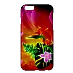 Awesome F?owers With Glowing Lines Apple iPhone 6 Plus/6S Plus Hardshell Case