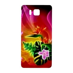 Awesome F?owers With Glowing Lines Samsung Galaxy Alpha Hardshell Back Case