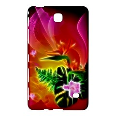 Awesome F?owers With Glowing Lines Samsung Galaxy Tab 4 (7 ) Hardshell Case