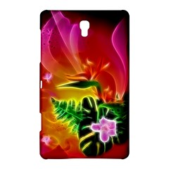 Awesome F?owers With Glowing Lines Samsung Galaxy Tab S (8 4 ) Hardshell Case