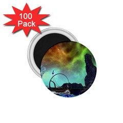 Fantasy Landscape With Lamp Boat And Awesome Sky 1.75  Magnets (100 pack)