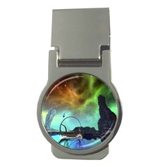 Fantasy Landscape With Lamp Boat And Awesome Sky Money Clips (Round)