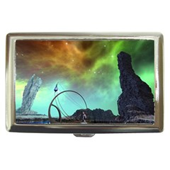 Fantasy Landscape With Lamp Boat And Awesome Sky Cigarette Money Cases