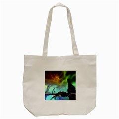 Fantasy Landscape With Lamp Boat And Awesome Sky Tote Bag (Cream)