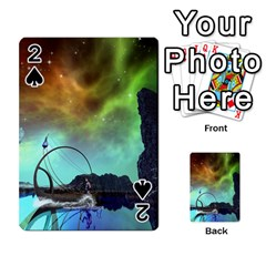 Fantasy Landscape With Lamp Boat And Awesome Sky Playing Cards 54 Designs