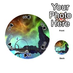 Fantasy Landscape With Lamp Boat And Awesome Sky Playing Cards 54 (round)