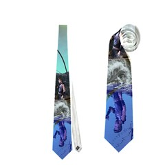 Fantasy Landscape With Lamp Boat And Awesome Sky Neckties (two Side)